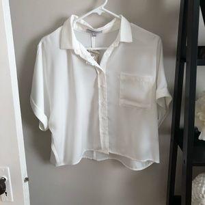 NTW cropped white blouse bought at Pitaya